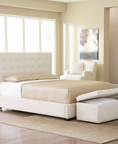 Baxton Studio Jeslyn White Tufted Headboard Modern Bed (King Size ...