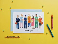 A card for our NHS frontline staff, teachers, delivery drivers, posture to thank them for everything during this time Happy Mother's Day Card, Happy Mothers Day, Thank You Poster, Giraffe Birthday, Hand Illustration, Wedding Guest Book, Biodegradable Products, Your Cards, Thank You Cards