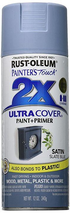 Rust-Oleum 249066 Painter's Touch Multi Purpose Spray Paint, 12-Ounce, Satin Slate Blue
