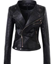 Handmade Women Black Leather Jacket - UK Merchant only: 123.14 €