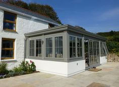 Painted uPVC orangery by Philip Whear Windows & Conservatories www.philipwhear.co.uk