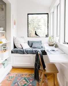 LOVE this workspace ledge.