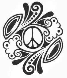 black peace tattoo - Google Search Sign Stencils, Free Stencils, Tattoo Stencils, Tribal Tattoos, Peace Sign Drawing, Peace Sign Tattoos, Printable Tattoos, Simple