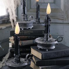 Flickering Halloween Candles