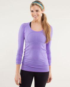 run: swiftly tech long sleeve scoop   womens tops   lululemon athletica