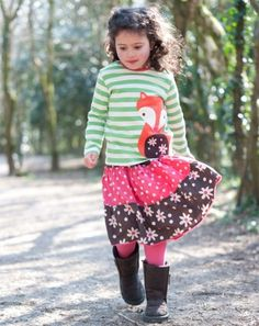Tiered Skirt - £22.10 using discount code ROCCO on http://www.welovefrugi.com/girls/2-8-years/dresses-skirts/tiered-skirt-SK026GRN/ Frugi AW13