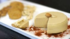 This vegan cheese recipe is easy to make and you don't need any special probiotics etc to make it :-) Best of all it has no dairy and is plant-based vegan! Great for slicing, it melts and is great on vegan pizza. Vegan Cheese Recipes, Almond Recipes, Vegan Snacks, Cashew Cheese, Nut Cheese, Raw Vegan, Vegan Vegetarian, Vegan Food, Paleo