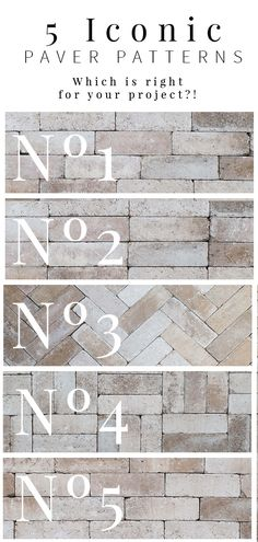 Installing pavers is a BIG DEAL! Check out these 5 iconic patterns and pick the one that is right for your project! Installing pavers is a BIG DEAL! Check out these 5 iconic patterns and pick the one that is right for your project! Patio Pavé, Brick Paver Patio, Backyard Patio Designs, Patio Stone, Budget Patio, Patio Privacy, Patio Plants, Concrete Patio, Patio Table