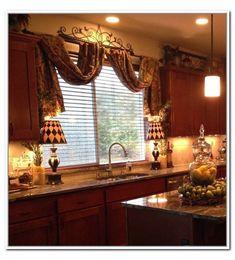 Tuscan Style Decorating, Tuscan Design, Interior Decorating, Decorating Ideas, Tuscan Curtains, Country Curtains, Window Curtains, French Curtains, Ikea Curtains