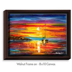 DiaNocheDesigns 'Playa del Sol' by Jessilyn Park Painting Print on Wrapped Framed Canvas