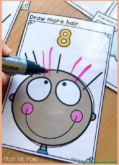 'Draw More' Counting Number Activity Cards – Math Centers - Handprint Kindergarten Kindergarten Centers, Kindergarten Classroom, Teaching Math, Teaching Resources, Teaching Numbers, Learning Numbers Preschool, Number Sense Kindergarten, Primary Teaching, Counting Activities