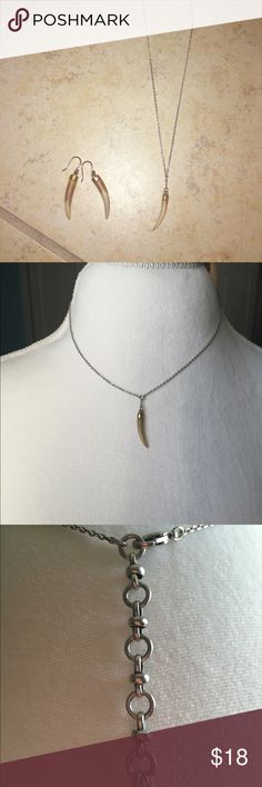 Lucky brand necklace and earrings Lucky brand necklace and earrings Lucky Brand Jewelry Necklaces