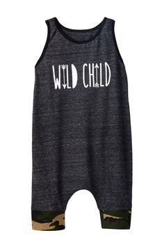 Charcoal Camo Tank Romper (Baby & Toddler Boys)