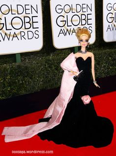 Barbie hitting the Red carpet At the Golden Globe Awards Barbie Gowns, Barbie Dress, Barbie Doll, Beautiful Gowns, Beautiful Outfits, Beautiful Clothes, Fashion Dolls, Girl Fashion, Light Up Dresses