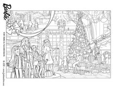 Christmas Coloring Pages | BARBIE COLORING PAGES: BARBIE ...