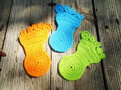 Happy Foot Coaster By A.D. Whited - Free Crochet Pattern - (ravelry)