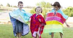 como hacer un poncho para niños