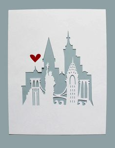 New York New York. Personalized Gift or Wedding von Cropacature