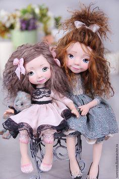 Коллекционные куклы ручной работы. Моя девочка. Оксана Сальникова. Интернет-магазин Ярмарка Мастеров. Голубой, авторская кукла, подарок