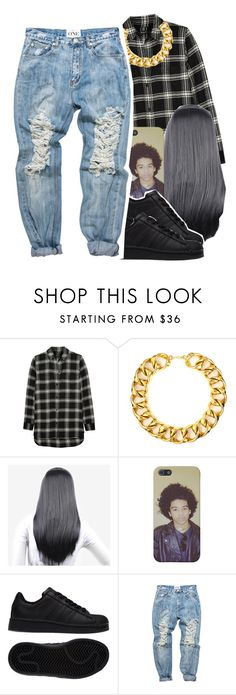 """""""tomboy"""" by jchristina ❤ liked on Polyvore featuring interior, interiors, interior design, home, home decor, interior decorating, Madewell, Yves Saint Laurent and adidas"""