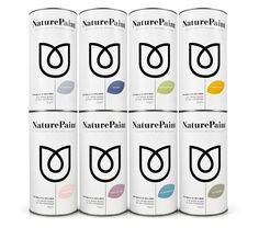 Packaging and brand identity design by B&B Studio for earth-friendly powdered wall paint Naturepaint. Label Design, Graphic Design, Package Design, Paint Drop, Packaging Solutions, Brand Identity Design, Brand Design, Design Design, Packaging Design Inspiration