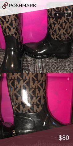 c49a113f987 Micheal Kors rain boots!! Worn once! Micheal kors rain boots