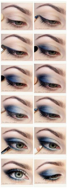 Eyeshadow Tutorials for Blue Eyes | 12 Colorful Eyeshadow Tutorials For Blue Eyes by makeup Tutorials at http://makeuptutorials.com/12-colorful-eyeshadow-tutorials-blue-eyes/