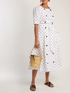 Diana polka-dot linen skirt | Lisa Marie Fernandez | MATCHESFASHION.COM