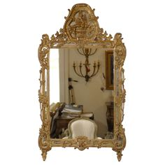 French Louis XV Trumeau Mirror   From a unique collection of antique and modern pier mirrors and console mirrors at http://www.1stdibs.com/furniture/mirrors/pier-mirrors-console-mirrors/