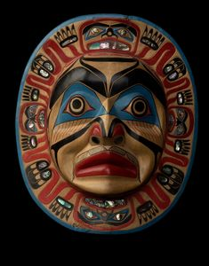 Kwakiutl Moon Mask by ~Nominal-Hominid on deviantART