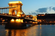 Chain Bridge after sunset