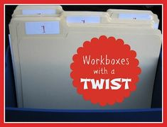 """Workboxes with a Twist...using """"Workfiles"""" instead...you'll love these fun ideas for workboxes!"""