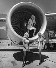 Lovely PSA Flight Attendants