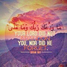 Qur'an 93;3