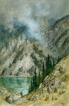 gustave doré peintures   Gustave Doré, Lac près d'Ischl (Tyrol autrichien), 1876. Aquarelle ...