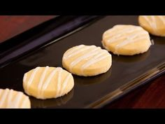 How to make easy Lemon Shortbread Buttons - YouTube
