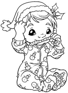 color Christmas Coloring Pages, Coloring Book Pages, Printable Coloring Pages, Christmas Images To Color, Christmas Colors, Precious Moments Coloring Pages, Christmas Embroidery, Digi Stamps, Copics