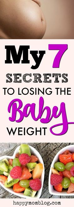 Tips on how to make losing the baby weight easier!