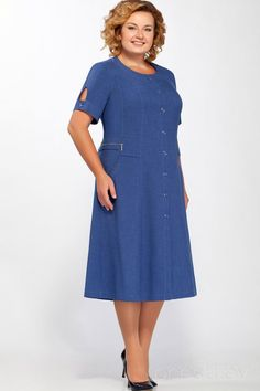 Dress Telluria-L 1397 cornflowers - Dress Telluria-L 1397 cornflowers Best Picture For hipster outfits For Your Taste You are looking - Modest Dresses, Plus Size Dresses, Casual Dresses, Fashion Dresses, Demin Dress, Summer Dress Outfits, Cute Outfits, Hipster Outfits, Corsage