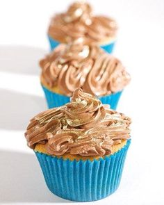 Yummy Mexican Chocolate-Pudding-Filled Cupcakes Recipe from How Sweet It Is bakery in NYC.