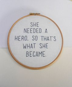 Modern embroidery hoop art Feminist inspirational quote Wall decor Feminist gift by RedWorkStitches on Etsy