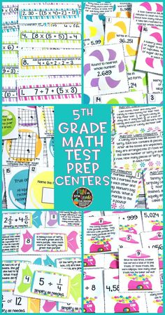Use this set of test prep centers to practice and review all of the 5th grade math standards in a fun and engaging way!  Includes game boards, recording sheet, and answer key to make review fun and meaningful.  Perfect stations for before the state assessment.
