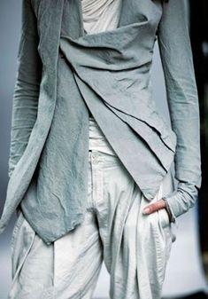 "draped jacket - urban zen ""sky"" collection"