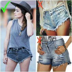 Como NÃO usar Shorts jeans e os piores erros cometidos na hora de escolher o seu.