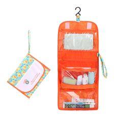 Cute Duck Printing Portable Wash Storage Bag Organizer Women Waterproof Toiletry Bags Foldable Travel Makeup Bag Cosmetic Cases