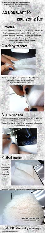 So You Want to Sew Some (Faux) Fur by moonymonsterView the full...