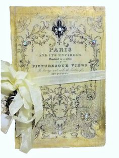 Beautiful french inspired altered book by DevineImagination