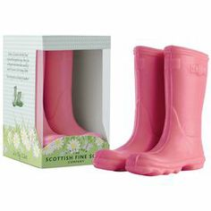 """Bring charming style and lovely scent to your bathroom with these adorable novelty soaps, showcasing a classic Welly boot silhouette. Dimensions: 4.5"""" H x 2.5"""" W x 0.5"""" D (soap)"""