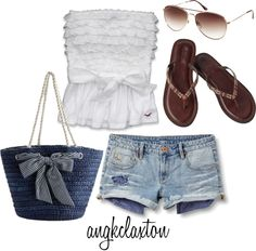 """Beach Day"" by angkclaxton on Polyvore"