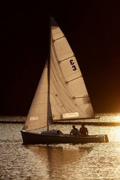 yachts & sailing ~ A little gold being spun on the pond